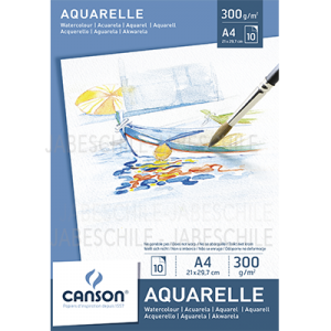 Pad Aquarelle Canson A4  300grs.