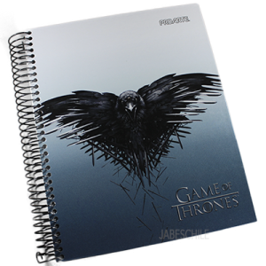 Cuaderno 1/2 oficio Game of Trones Proarte