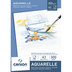 Pad Aquarelle Canson A3  300grs.