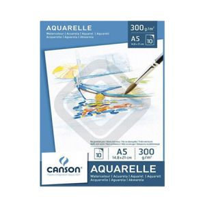 Pad Aquarelle Canson A5 300grs.