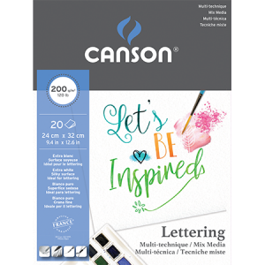 Block para Lettering  20 hojas Canson