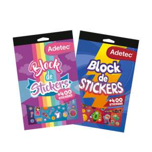Block de stickers infantil Adetec