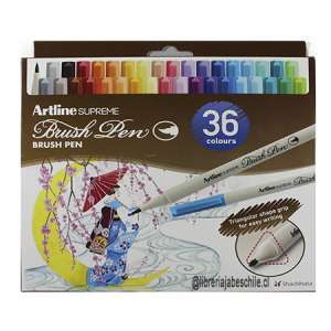 Artline Supreme Brush Pen 36 col.
