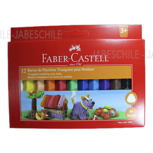 PLASTILINA 12 COLORES TRIANG. FABER CASTELL