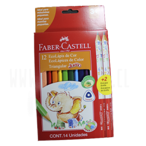 LAPIZ COLOR JUMBO TRIANGULAR FABER CASTELL