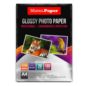 Papel  Fotográfico Glossy 180grs. Mister Paper