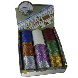 Washi Tape Cinta Decorativa Glitter