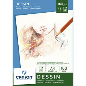 Pad Dessin A4 160grs. Canson