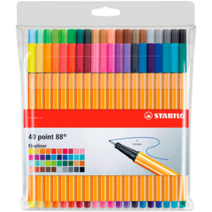 Stabilo Point 88 Blister 40 colores