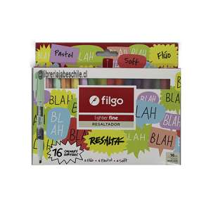 Set Destacador Filgo Lighter Fine 16 colores
